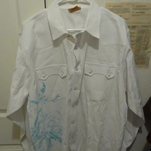 Like New Ariat Men's L/S Pearlsnap Shirt XL/TG